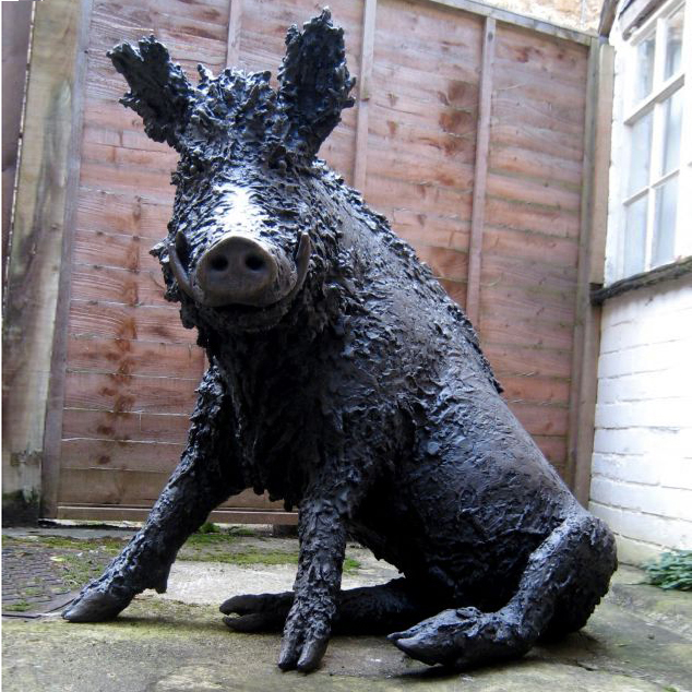 sculpture artwork dido crosby sitting boar
